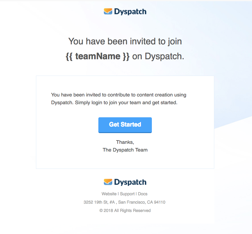 Dyspatch Email Example